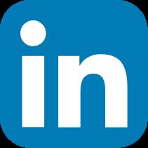 linkedin logo in blue